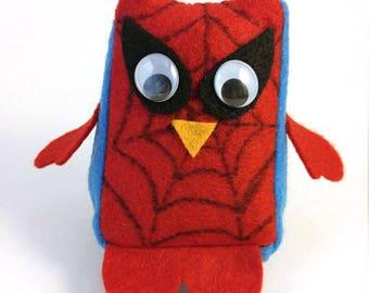 Spider Man Mini Owl Stuffie Plush Doll