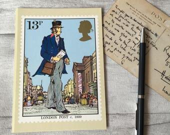 London post postcard, blank greetings card, british history, postcard for framing, postal service, postage stamp, collectible postcard uk