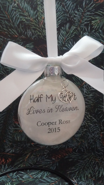 Memorial Christmas Ornament In Memory of Loved One Half My