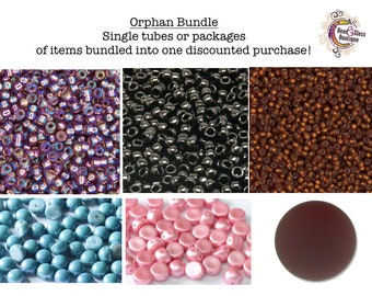 BEAD LOT, Orphan Bundle, Single items bundled into one discounted purchase; Read Description for Details and Quantity
