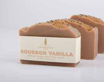 Bourbon Vanilla Soap - Handmade Soap - Cold Process Soap - Soap For Men - Husband Gift - Gift For Him - Fathers Day Gift