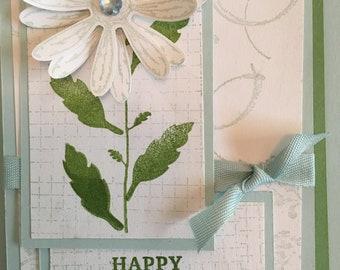 Timeless Textures Daisy Birthday Card