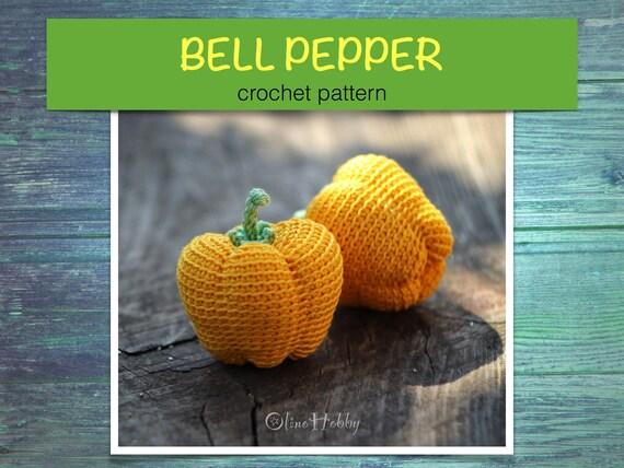 BELL PEPPER Crochet Pattern PDF - Crochet pepper pattern, Amigurumi ...