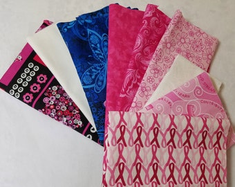Scrap Pack of Breast Cancer Fabric - 11 oz
