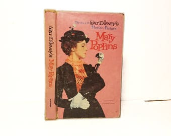 Hollow Book Safe Mary Poppins Disney Cloth Bound vintage Secret Compartment Keepsake Box Hidden Security Box
