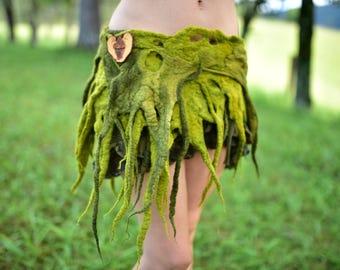 Filz-Gürtel-Baum Kostüm-Baum Gürtel-Druide Kostüm-Wald Thema-Gürtel-Fantasy Kostüm-Festival tragen brennen Mann-Performance Kostüm Pixie OOAK