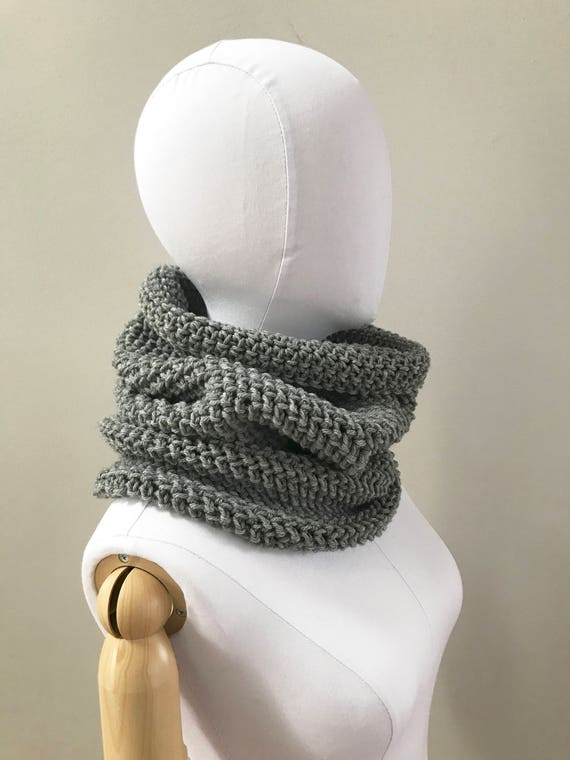 Wool Infinity Cowl Neck Warmer