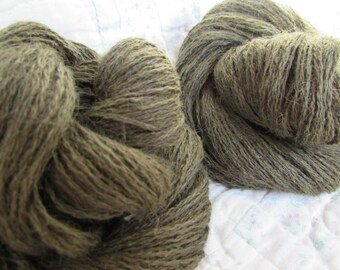 New Year SALE - 20% OFF*** Handplied, Upcycled Alpaca Yarn; Color: Dusty Hedge; 265 Yards
