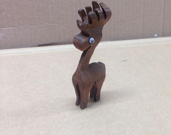 christmas wooden reindeer