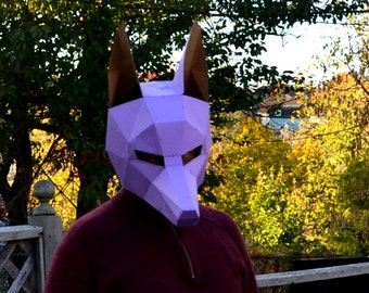 Fox mask papercraft diy animal awesome paper party mask you anubis mask halloween diy awesome paper party mask you make yourself jackal dog wolf coyote solutioingenieria Choice Image