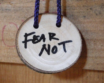 Photo magnet - Fear Not inspirational inscription
