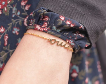 OUI Bracelet. Golden Plated Tiny Bracelet. Engagement OUI Bracelet. Yes Bracelet. French Bracelet. Love Bracelet. BridesMaid Bracelets
