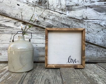 Love . | Small Rustic Sign | Home Decor | Mantle Sign | Gallery Wall