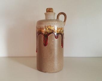 Mid Century Lava Ware Jug - Lava Drip Pottery - Handled Jug - 1960s Handcrafted