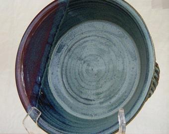 Custom handmade ceramic pie plate, Pottery deep dish pie plate