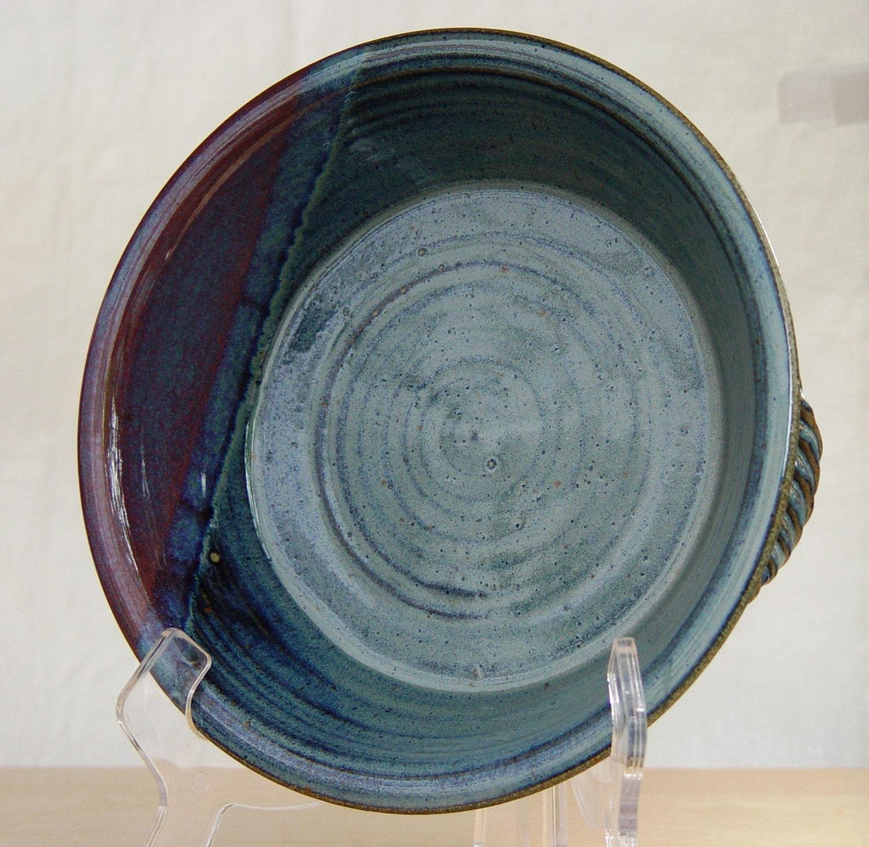 🔎zoom & Custom handmade ceramic pie plate Pottery deep dish pie plate