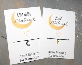 Ramadan Mubarak charm bracelet-Eid Mubarak charm bracelet-Ramadan blessings -Ramadan gift-Ramadan jewelry-Islamic jewelry-Eid Jewelry