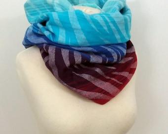 Wrap conversion winter cowl / neck warmer / snood -- Soft minky - Pellicano Zamira Mane