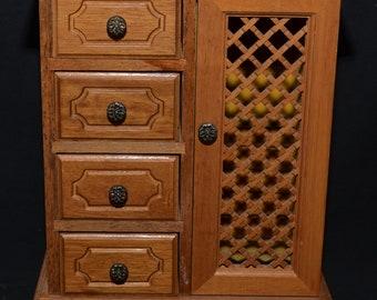 1970s Wooden Jewelry Box