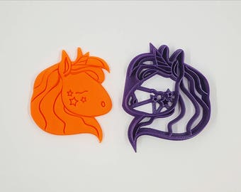 Unicorn Cookie Cutter - 3D Printed - Bakery Cookie Cutter - Fantasy Cookie Cutter - Custom Cookie - Clay Cutter - Fondant Cutter - FunOrders