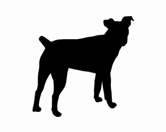 Jack Russell Terrier v3 Dog Breed Silhouette Custom Die Cut Vinyl Decal Sticker - Choose your Color and Size