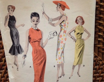 1959's Butterick empire sheath pattern