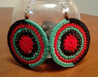 RBG Crocheted Earrings