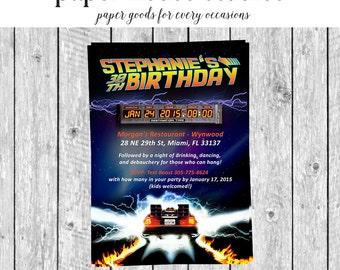 Back to the Future 5 x 7 Digital Invitation