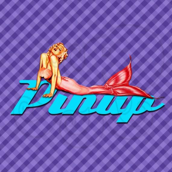Pin Up Clip Art Pin Up Mermaid Retro 50's Pin up Vintage