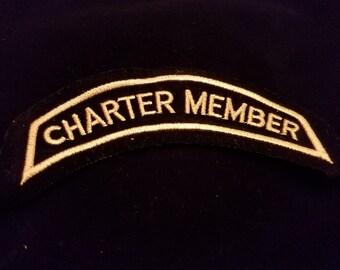 Harley Davidson Charter Member Patch