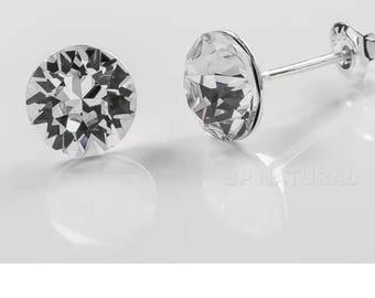 Swarovski Crystal 7mm stud earrings