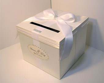 Wedding Card Box White Gift Card Box Money Box  Holder--Customize in your color(10x10x9) --custom made