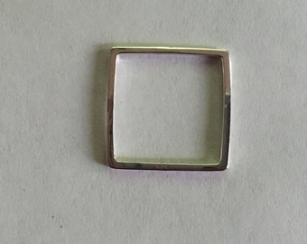 HBSS20SQRELINK-   925 Sterling silver square link - 20mm x 20 mm -Sold individually
