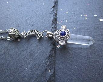 Selene Moon Goddess Necklace, Clear Quartz Necklace, Moon Necklace, Quartz Necklace, Clear Quartz jewellery, Quartz Jewellery, Bohemian