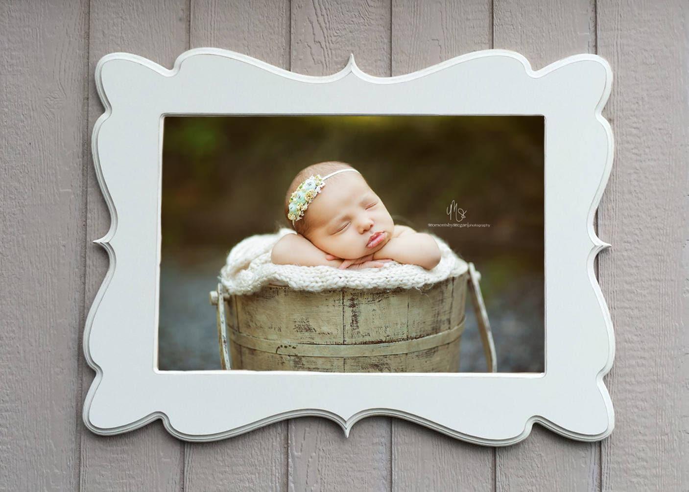 Picture frame, 20x30, wooden frame, distressed frame, nursery decor ...