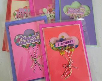 Happy birthday shaker cards