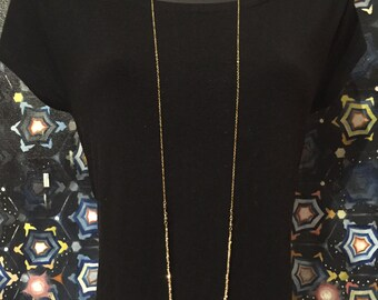 Rose Gold and Gold Faceted Pyrite along Gold Chain