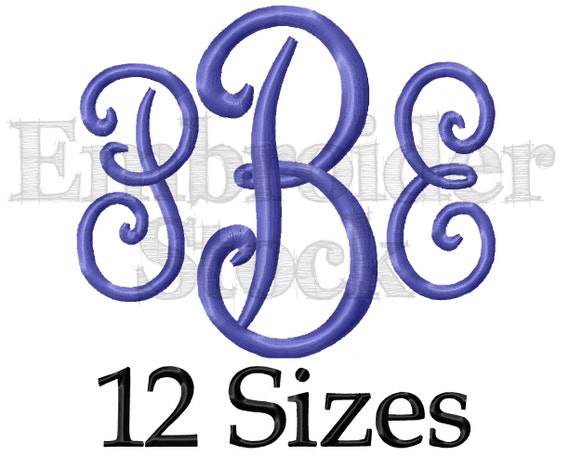 Pillow Font Embroidery Monogram Font Machine Embroidery Font