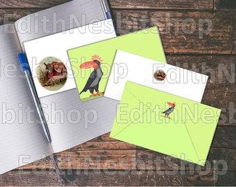 Printable E Nesbit envelopes. Mouldiwarp. Kockatoucan. Titania. House of Arden. Stationery.