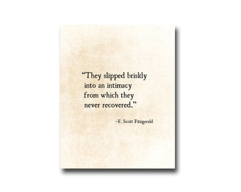 F. Scott Fitzgerald Love Quote, Romantic Quote, Inspirational Quote, Anniversary Print, Literary Quote, Fine Art Print