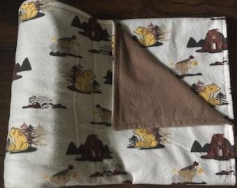 Woodland Bears Flannel Blanket