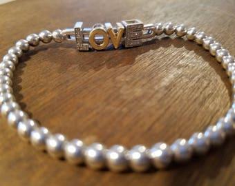 Sterling LOVE Bracelet