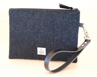 Ladies Wristlet Bag / Harris Tweed Clutch Bag / Harris Tweed Wristlet /  Ladies Clutch Bag