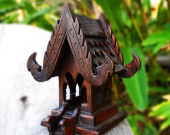 Beautiful Hand Carved Teak Wood Spirit House