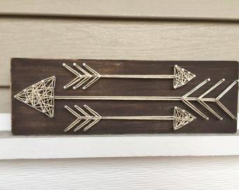 Arrow Trio String Art | Arrow String Art | Arrow Wall Art | Home Decor | Housewarming Gift
