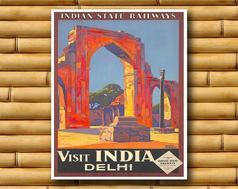 Art India Travel Poster Asian Wall Decor Print (AJT51)