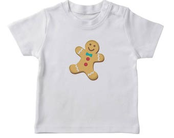 Christmas Gingerbread Cookie  Girl's White T-shirt