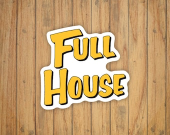 Full House Logo Decal/Sticker