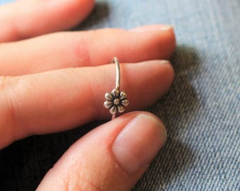 Sterling Silver Flower Ring, Sweet and Simple Floral Ring