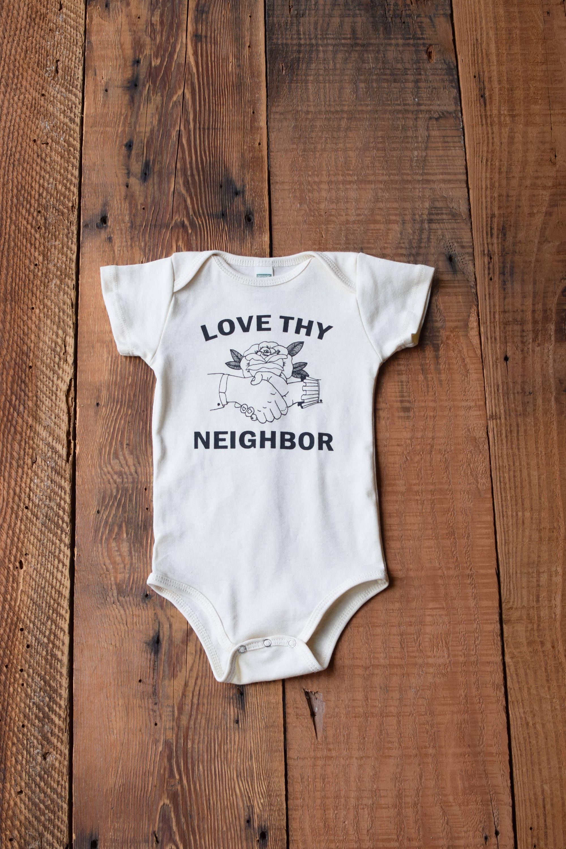Organic Baby Clothes e Piece Screen Printed Bodysuit